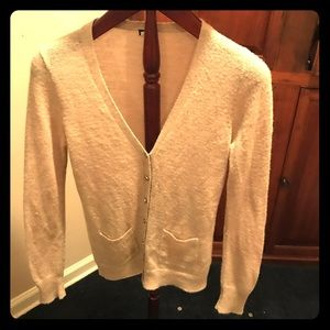 J Crew wool blend tan cardigan